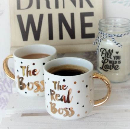 Boss & Real Boss Stack Mugs Gift Boxed